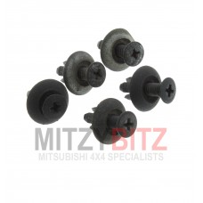 5 X FUEL FILLER PIPE COVER HOLDING CLIPS