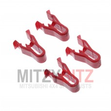 FLOOR CONSOLE CLIP (4) RED TYPE