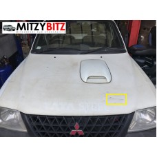 WHITE BONNET / HOOD  WITH SCOOP