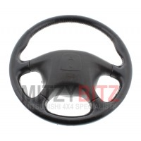 BLACK LEATHER STEERING WHEEL WITH AIRBAG