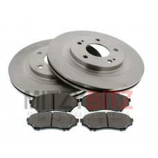 FRONT BRAKE DISCS AND PADS