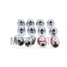 12 X STEEL WHEEL NUTS ( BEVELLED )
