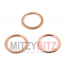 x3 14MM ENGINE OIL SUMP DRAIN PLUG WASHERS