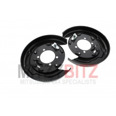 PAIR OF REAR BRAKE DISC DUST COVER BACKING PLATES