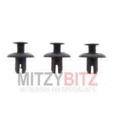 3 X WHEEL ARCH LINER SPLASH SHIELD CLIPS