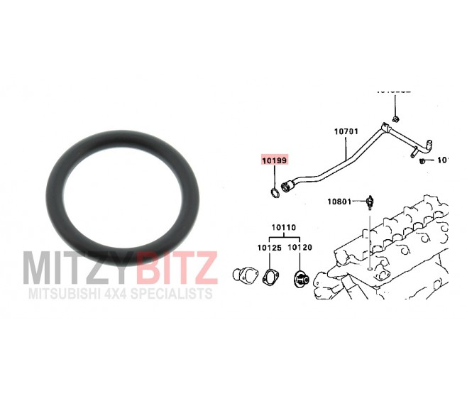 COOLING WATER LINE O-RING ( 24.6MM )