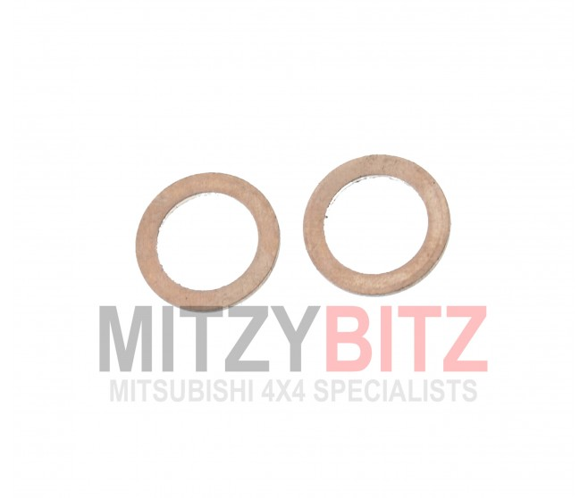 ENGINE OIL LINE COPPER WASHER GASKET (2) FOR A MITSUBISHI PAJERO/MONTERO - V78W