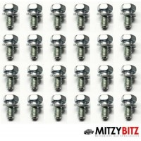 24 X ENGINE SUMP OIL PAN FITTING BOLTS