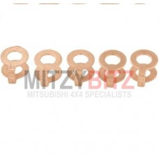 FUEL INJECTOR COPPER WASHER GASKET (x5)