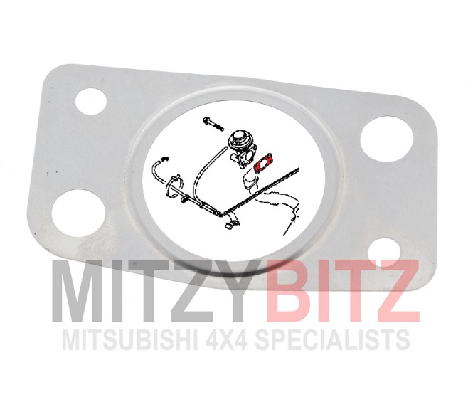 EGR PIPE TO VALVE GASKET FOR A MITSUBISHI PAJERO/MONTERO - V68W