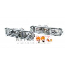 CRYSTAL CLEAR INDICATOR LIGHT LAMPS WITH BULBS