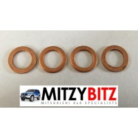 4 x FUEL INJECTOR NOZZLE SEAL WASHERS ( COPPER )