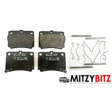 REAR BRAKE PADS WITH FITTING PINS & SPRING CLIPS KIT